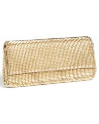 Whiting & Davis Pyramid Mesh Clutch - Lyst