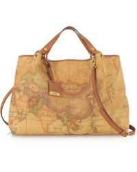 Alviero Martini 1a Classe Geo Printed Large 'Contemporary' Handbag - Lyst