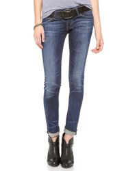 Citizens of Humanity Racer Lowrise Skinny Jeans - Patina - Lyst