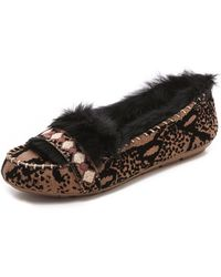House of Harlow 1960 | Macey Fur Lined Moccasins | Lyst