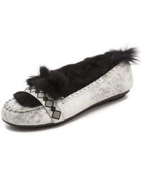 House of Harlow 1960 - Macey Fur Lined Moccasins - Lyst