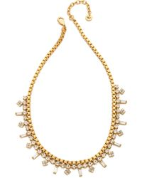 Juicy Couture - Box Chain Rhinestone Necklace - Lyst
