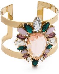 Juicy Couture - Multi Stone Cluster Drama Cuff Bracelet - Lyst