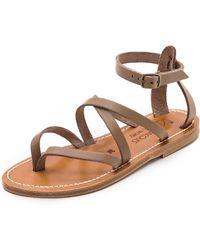 K. Jacques Epicure Crisscross Sandals - Pul Taupe - Lyst