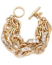 Lee Angel Double Chain Rondelle Bracelet