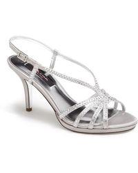 Nina Bobbie Crystal Embellished Sandal - Lyst