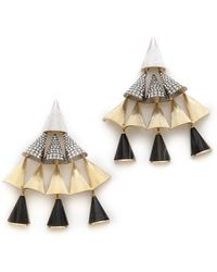 Sarah Magid - Agate Pave Cone Chandelier Earrings - Lyst