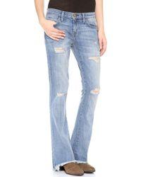 Current/Elliott The Flip Flop Jeans - Super Loved Destroy - Lyst
