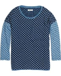 Madewell - Indigo Ink Tee in Dot - Lyst