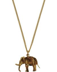Sophie Hulme - Goldplated Elephant Necklace - Lyst