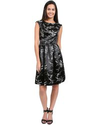 Sue Wong Cap Sleeve Short Dress - Lyst