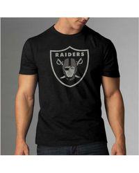Mens Oakland Raiders 47 Brand Black Knockaround Flanker T-Shirt