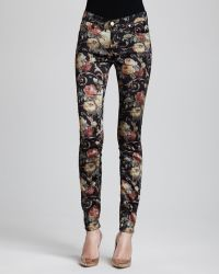 7 For All Mankind The Skinny Floral Chintz Pants - Lyst