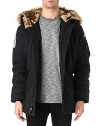 Alpha Polar Parka Jacket Black - Lyst