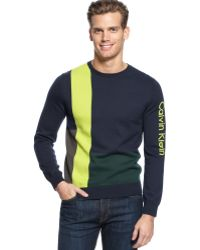 Calvin Klein Colorblock Intarsia Sweater - Lyst