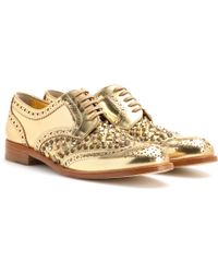 Dolce & Gabbana Studded Leather Brogues - Lyst