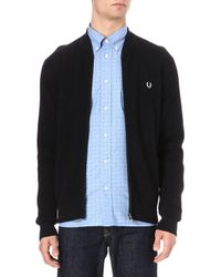 Fred Perry Contrastcoloured Cardigan - Lyst
