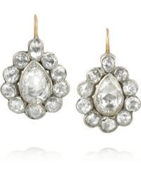Olivia Collings - 18karat Gold Silver and Diamond Earrings - Lyst