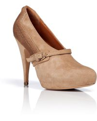 Givenchy Camel Suede pony Hair Platform Pumps - Lyst