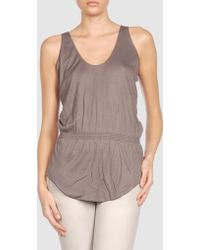 Halston Sleeveless T - Lyst