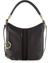 Jonathan Adler - Lucille Leather Zip Hobo Bag Black - Lyst