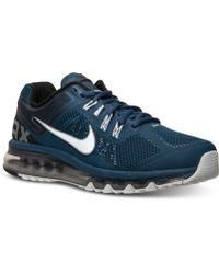 lyst nike air max scarpe da corsa uomini traguardo in blu