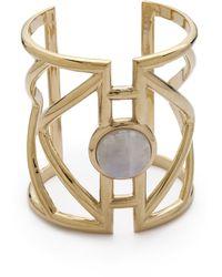 Pamela Love Pathway Cuff Bracelet - Brass/Moonstone - Lyst