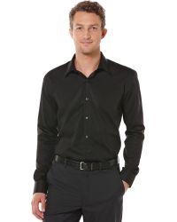 Perry Ellis Twill Non-Iron Shirt - Lyst