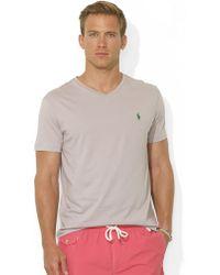 Polo Ralph Lauren Medium-Fit Short-Sleeved Cotton Jersey V-Neck - Lyst