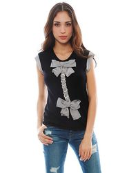 Chanel Cashmere Ribbon Top - Lyst
