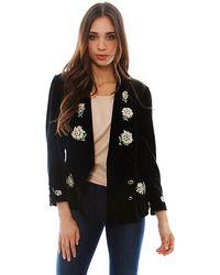 Chanel Velvet Flowers Jacket - Lyst