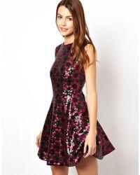 Asos Star Sequin Tulip Dress - Lyst