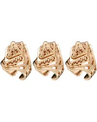 Asos Pack Of Three Eastern Cage Rings - Lyst
