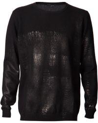Avant Toi - Metallic Sheen Sweater - Lyst