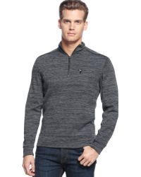 Calvin Klein Long Sleeve Rib Space Dyed Quarter Zip Shirt - Lyst