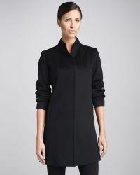 Fleurette - Hiddenplacket Backpleat Wool Coat - Lyst