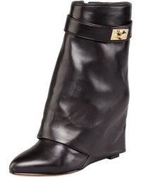 Givenchy - Leather Sharklock Foldover Boot - Lyst