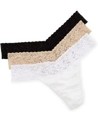 Hanky Panky Three-Pack Original-Rise Organic Cotton Thongs - Lyst