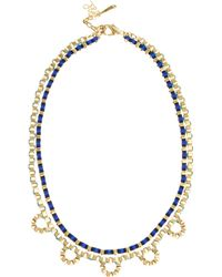 John & Pearl | Two Row Loop Necklace | Lyst