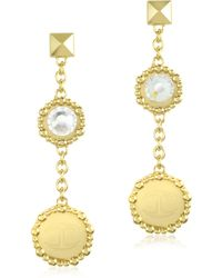 Just Cavalli - Just Rich Stainless Steel Womens Earrings - Lyst