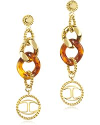 Just Cavalli - Nature Stainless Steel Womens Earrings - Lyst