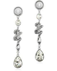 Just Cavalli - Treasure Stainless Steel Women'S Earrings - Lyst