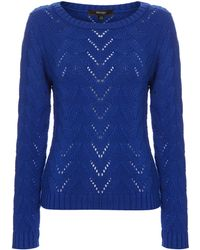 Therapy Pointelle Detail Jumper blue - Lyst