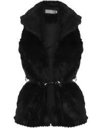 Topshop Fur Gilet By Love - Lyst