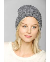 BDG - Speckled Ribbed Cuff Beanie in Grey - Lyst