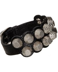 Balenciaga Arena Giant All Stud Two Row Bracelet - Lyst