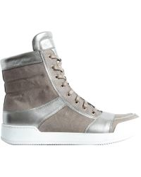 Balmain Combo Side Zip High Top - Lyst