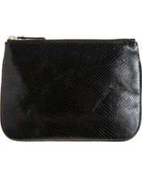 Barneys New York Large Python Embossed Zip Case black - Lyst