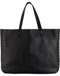 Barneys New York Studded Simple Tote - Lyst