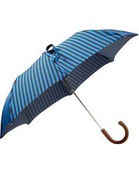 Barneys New York - Compact Striped Folding Umbrella - Lyst